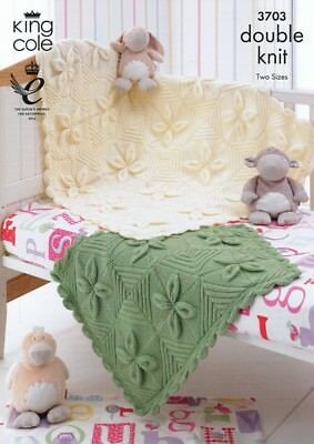 King Cole Baby Blankets Comfort Knitting Pattern 3703 DK (KCP-3703)