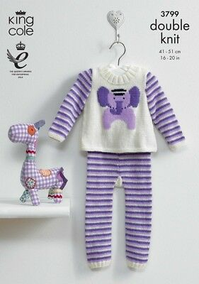 King Cole Baby Picture Sweater & Leggings Comfort Knitting Pattern 3799 ...