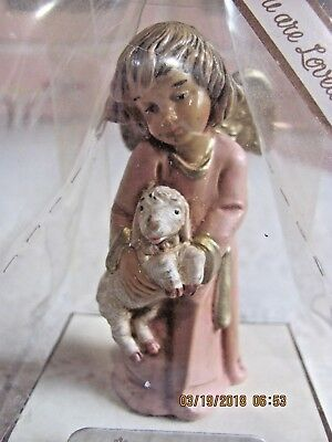 Fontanini Roman Angelic Inspirations You Are Loved Angel with Lamb NIP #65556