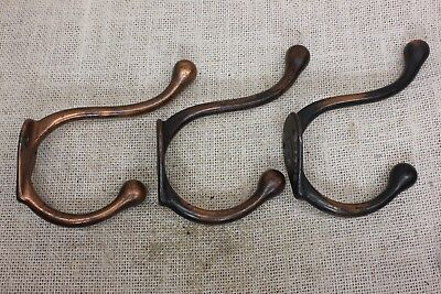 large old Coat Hook house bath robe clothes tree vintage copper heavy cast iron