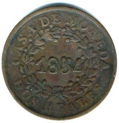 XS-  ARGENTINA - BUENOS AIRES   2 Reales 1854