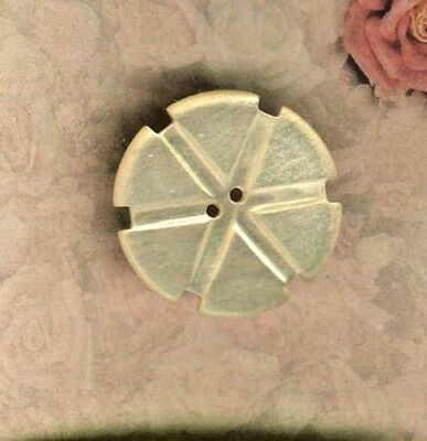 Vintage Mother of Pearl Thread Winder From Muscatine Iowa Pearl Button Factory