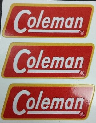 Three (3) New Coleman Replacement Sticker Label Decal Lantern Stove 1954-1960