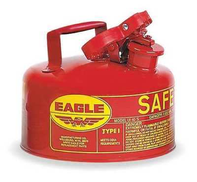 "EAGLE UI-10-S Type I Safety Can,1 gal.,Red,8"" H,9"" OD w/ funnel"