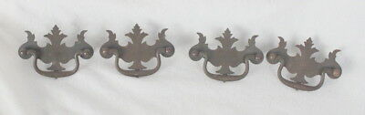 Set of 4 Vintage Drawer Pulls Antique Handles Dresser Desk Cabinet