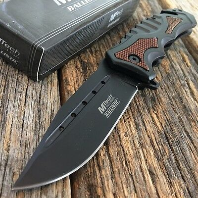 MTECH Spring Assisted Open Tactical Rescue Folding POCKET KNIFE EDC Q