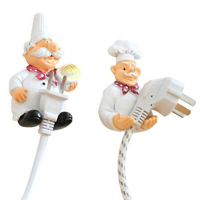 Cartoon Cook Chef Plug Holder Storage Rack Hook Wall Kitchen Decoration Cute Hot