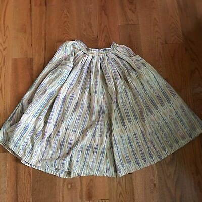 Vintage Guatemalan Skirt Handwoven Cotton Hippie Boho Pockets Medium