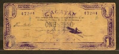 PHILIPPINES GUERRILLA ISSUE - CAGAYAN 1 peso no date PS186 VG