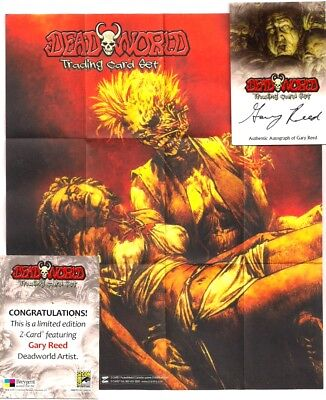 Dead World Gary Reed Sdcc Autograph Z- Card