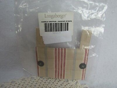 Longaberger Handle Gripper ~ Awning Stripe ~ New!
