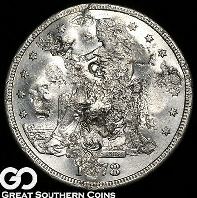 1878-S Trade Dollar, Coins Been Around, Many Chop Marks, Neat