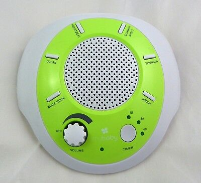 MyBaby Homedics SoundSpa Soother Portable W/ 6 Soothing Sounds Green White