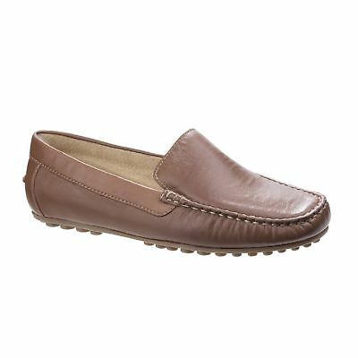 cc164a5c3ae Hush Puppies AMALIA GRACE Ladies Womens Casual Slip On Moccasin Loafer  Shoes Tan