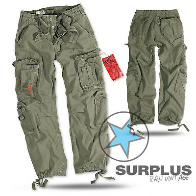 SURPLUS Raw Vintage AIRBORNE Herren Cargo Pants Hose Military Worker oliv 7XL