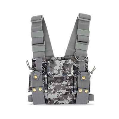 CS Tactics Chest Pouch Vest Rig for Baofeng UV-5R UV-82 888S Radio Walkie Talkie