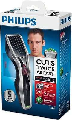 PHILIPS HC5440 Mens Cordless HAIR CLIPPER & BEARD TRIMMER DualCut Tech  *NEW*