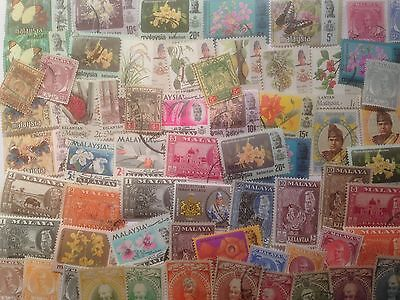 50 Different Malay States Stamp Collection - Kelantan