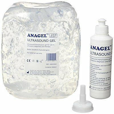 Anagel Ultrasound Gel Bottle 5L Clear Gel / Colourless will not Stain on Clothes