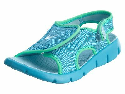 new style d8686 ef97e Nike Sunray Adjust 4 Little Kids 386520-404 Chlorine Blue Sandals Youth Size  2