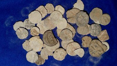 40 Medieval Lead Tokens Collectible Artifacts