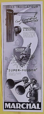 Old Advertising Arm Indicator Super-Fulgor MARCHAL 1950