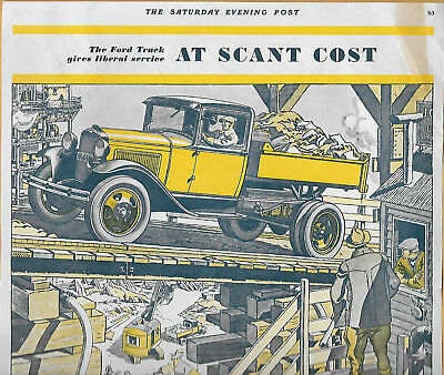Rare 1930 Ford Truck Full-Color Magazine Ad; Great Shape!