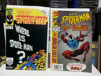 Web of Spider-Man #18 and #118 Venom and Clone 1st Appearance Higher Grade LOOK