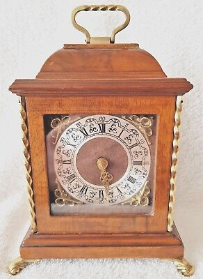 Warmink Mantel Clock Rare Nut Wood 8 Day Baby Model Vintage Mechanical