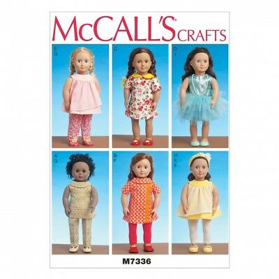 MCCALLS CRAFTS EASY Sewing Pattern 7336 Doll Clothes for 18inch ...
