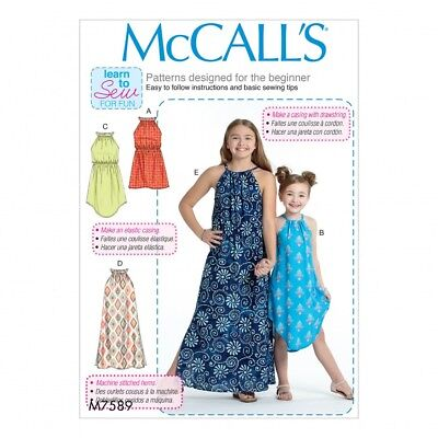 MCCALLS VERY EASY SEWING PATTERN M7737 Girls Dresses,Learn To Sew ...