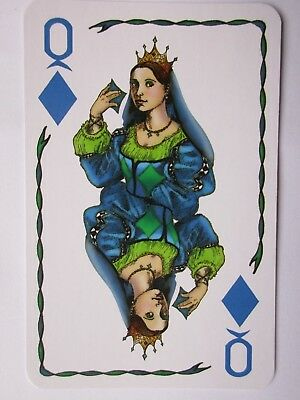 Five Crowns.Wunderschoenes 5-farbiges Kartenspiel.5-suited deck of playing cards