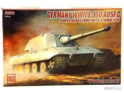 Modelcollect 1:72 UA72089 Germany WWII E-100 Heavy Tank Ausf. C with 128mm Gun