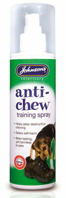 Johnsons Anti Chew Dog Puppies Training Spray Extremely Bitter Tasting 150ml