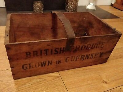 Rare old vintage wooden advertising crate box antique wooden metal box