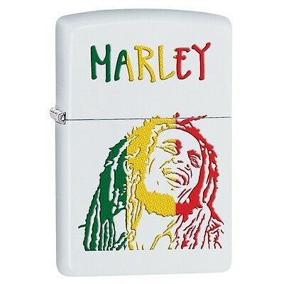 "Zippo ""Bob Marley"" White Matte Finish Lighter, Full Size, 29308"