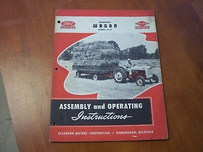Ford Tractor Dearborn Farm Dearborn Wagon instructions Assembly and Instruction
