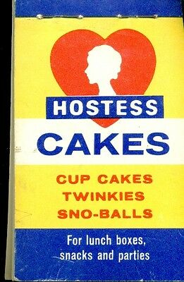 HOSTESS TWINKIES & WONDER BREAD vintage booklet with pre-filled shopping items