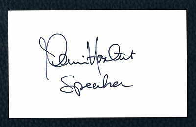 Diverse Autograph Sale: DENNIS HASTERT - FORMER SPEAKER OF THE HOUSE * 3x5 card