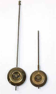 TWO ANTIQUE FRENCH CLOCK PENDULUMS for PARTS or REPAIR - KC479