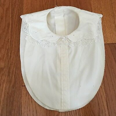 Vintage 100% Cotton Cut Out Lace Creamy White Dickey / Collars Pretty!