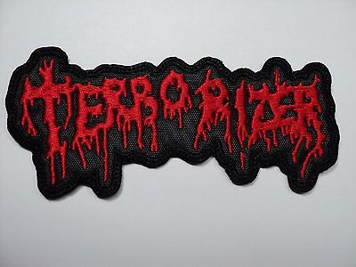 Terrorizer  Red Shaped    Embroidered Patch
