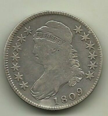 1809 Silver Capped Bust Half Dollar
