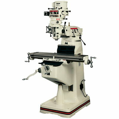 Jet 691191 JTM-1 Mill With 3-Axis Newall DP700 DRO (Quill) With X-Axis Powerfeed