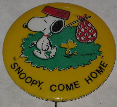 1970's Snoopy Come Home Pin Approx 1.75""