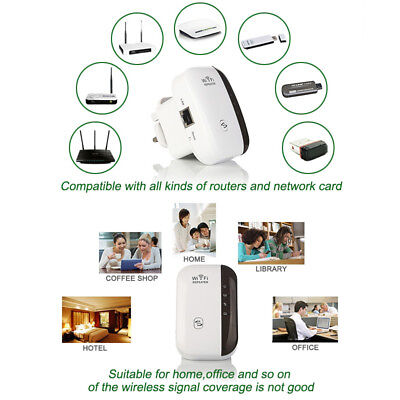 300Mbps Wifi Repeater N 802.11 AP Range Router Wireless Extender Booster