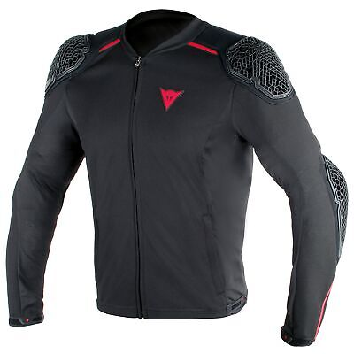 Dainese Pro-Armor Textile Motorcycle Bike Riding Jacket In Black