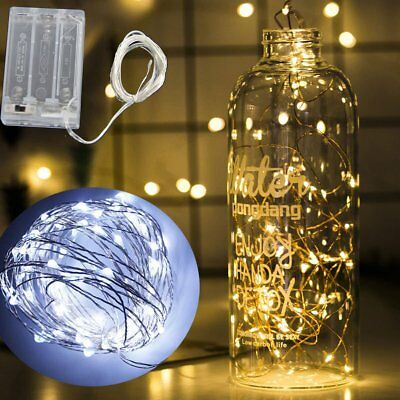 LED String Fairy Lights Copper Wire Battery Powered Xmas Decoration light White