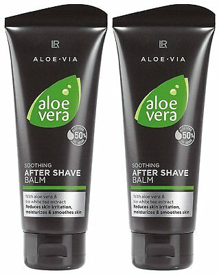 LR Aloe VIA Aloe Vera Men After Shave Balm nach der Rasur 2x 100ml