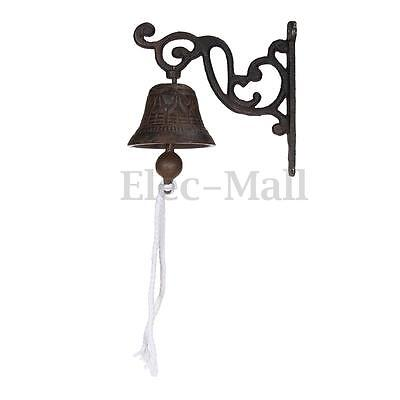 Vintage Antique Cast Iron Door Bell Chime Wall Mounted Rust Garden Decoration